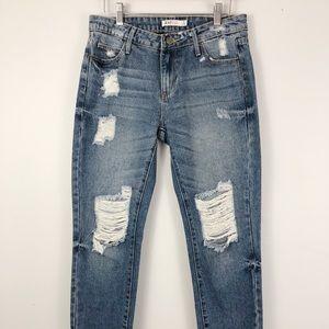 Justfab Distressed Boyfriend Jeans
